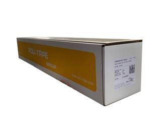 Immagine di Vinile adesivo monomerico bianco opaco retro grigio 100my 1050mmx50M