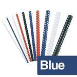 Immagine di Dorsi plastici 12mm blu pz. 100