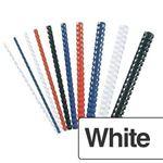 Immagine di Dorsi plastici 16mm bianco pz. 100