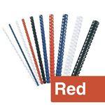 Immagine di Dorsi plastici 16mm rosso pz. 100