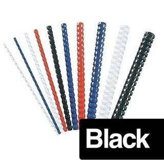 Immagine di Dorsi plastici 22mm nero pz. 50