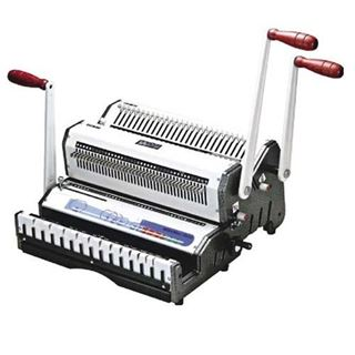 Immagine di WDUO - perforatrice e rilegatrice manuale per dorsi wire passo 3:1 e 2:1 - luce