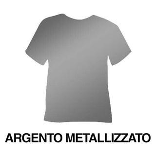Immagine di Poli flex argento metallizzato PET non adesivo 100mic 1000x25