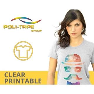 Immagine di Poli tape flex trasparente opaco stampa digitale PET non adesivo 75mic 500x25