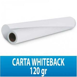 Immagine di White Back Paper per affissione anti-spappolo 120gr