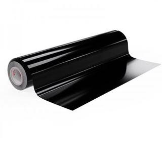 Immagine di Vinile polimerico da intaglio adesivo solvent Black 70my 125cmx50M