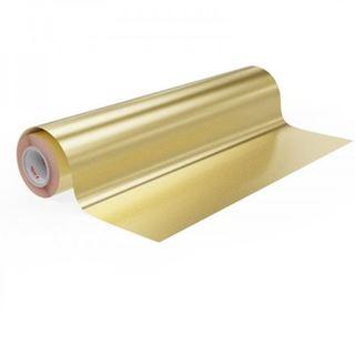 Immagine di Vinile polimerico da intaglio adesivo solvent Gold 70my 125cmx50M