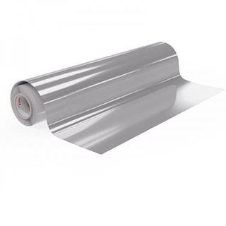 Immagine di Vinile polimerico da intaglio adesivo solvent Silver 70my 125cmx50M
