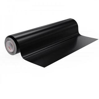 Immagine di Vinile polimerico da intaglio adesivo solvent Soft Black matt 70my 125cmx50M
