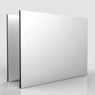 Immagine di Alluminio Composito Bianco-Bianco Matt/Matt 0,27 - 3mm 305x150cm