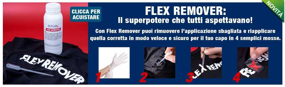 FLEX REMOVER - liquido per rimozione termoadesivo